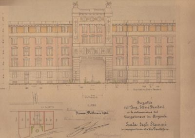 Progetto per la sistemazione del Lungotevere in Augusta, 1926